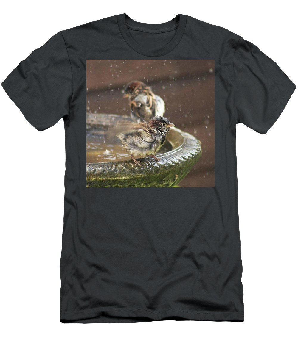 Nature T-Shirt featuring the photograph Pass The Towel Please: A House Sparrow by John Edwards