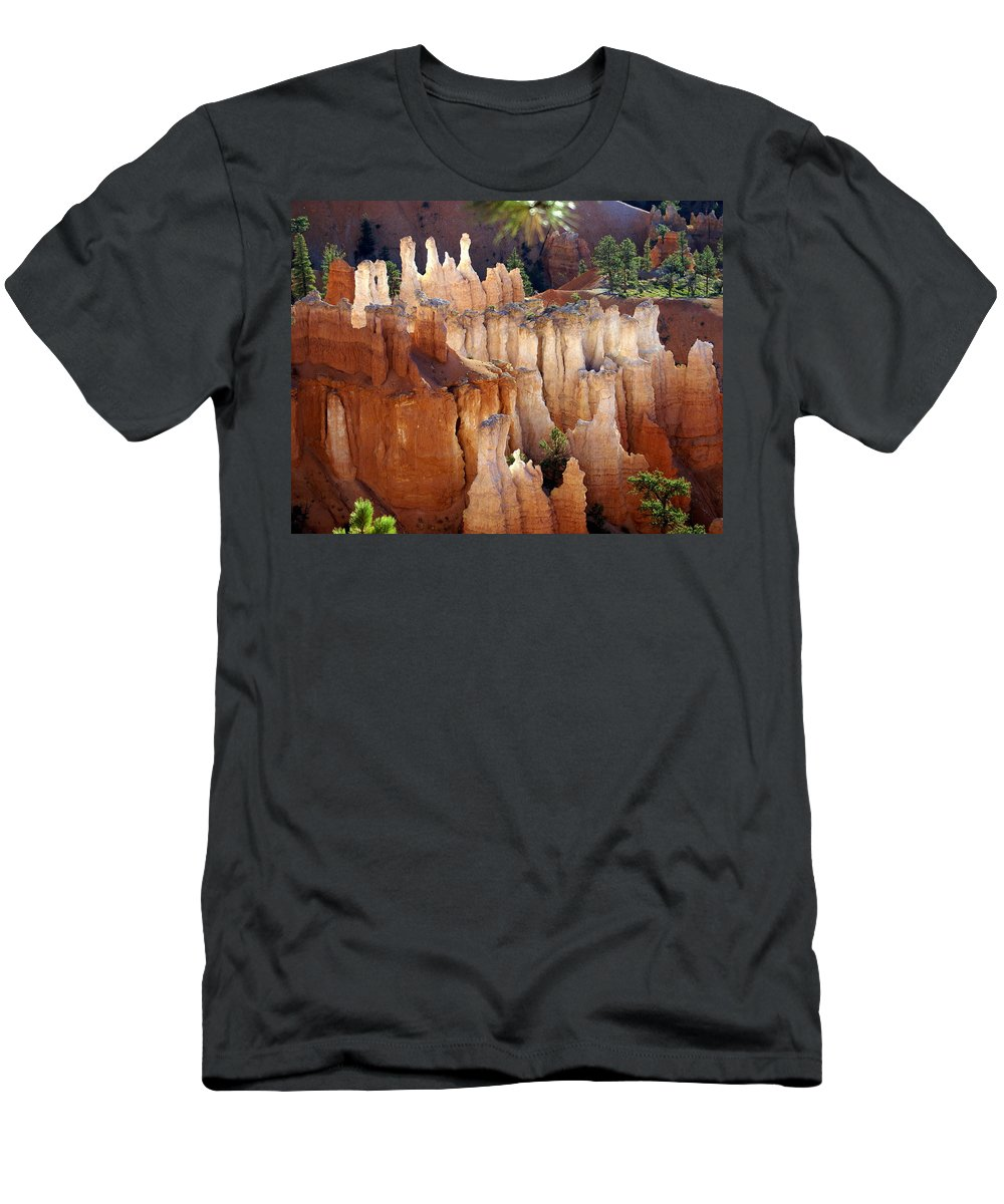 Bryce Canyon National Park Men's T-Shirt (Athletic Fit) featuring the photograph Pastel Bryce by Marty Koch