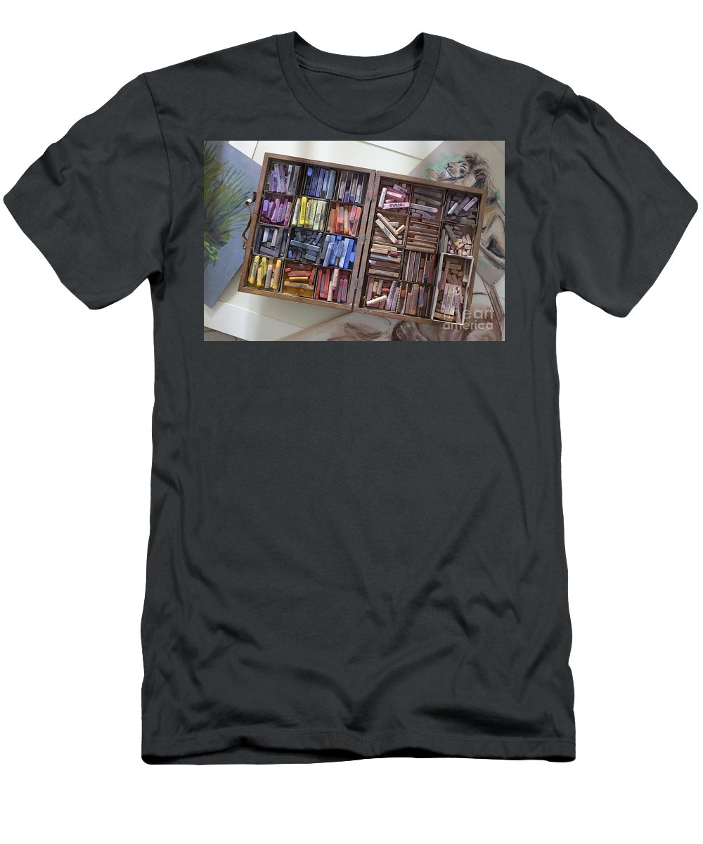 Set Of Pastels Men's T-Shirt (Athletic Fit) featuring the photograph Pastels by Greg Kopriva