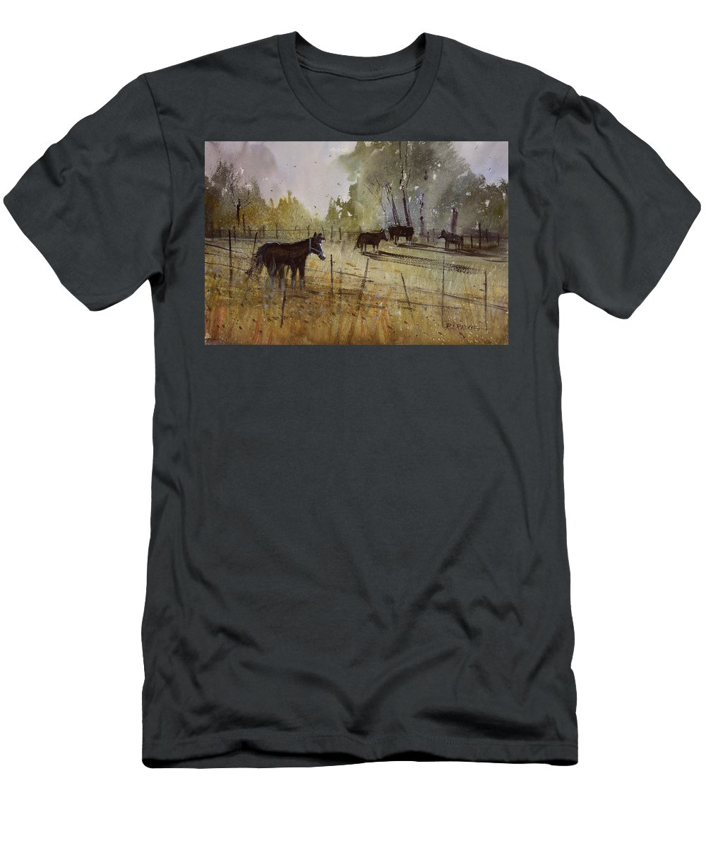 Paintings Men's T-Shirt (Athletic Fit) featuring the painting Pastoral by Ryan Radke
