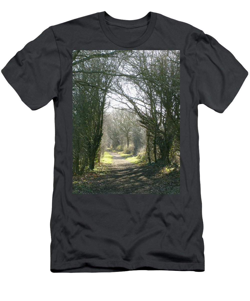 Path Men's T-Shirt (Athletic Fit) featuring the photograph Path To Wherever by Susan Baker