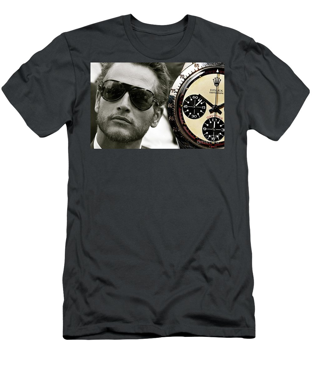 66a532f0965 Paul Newman Men s T-Shirt (Athletic Fit) featuring the mixed media Paul  Newman