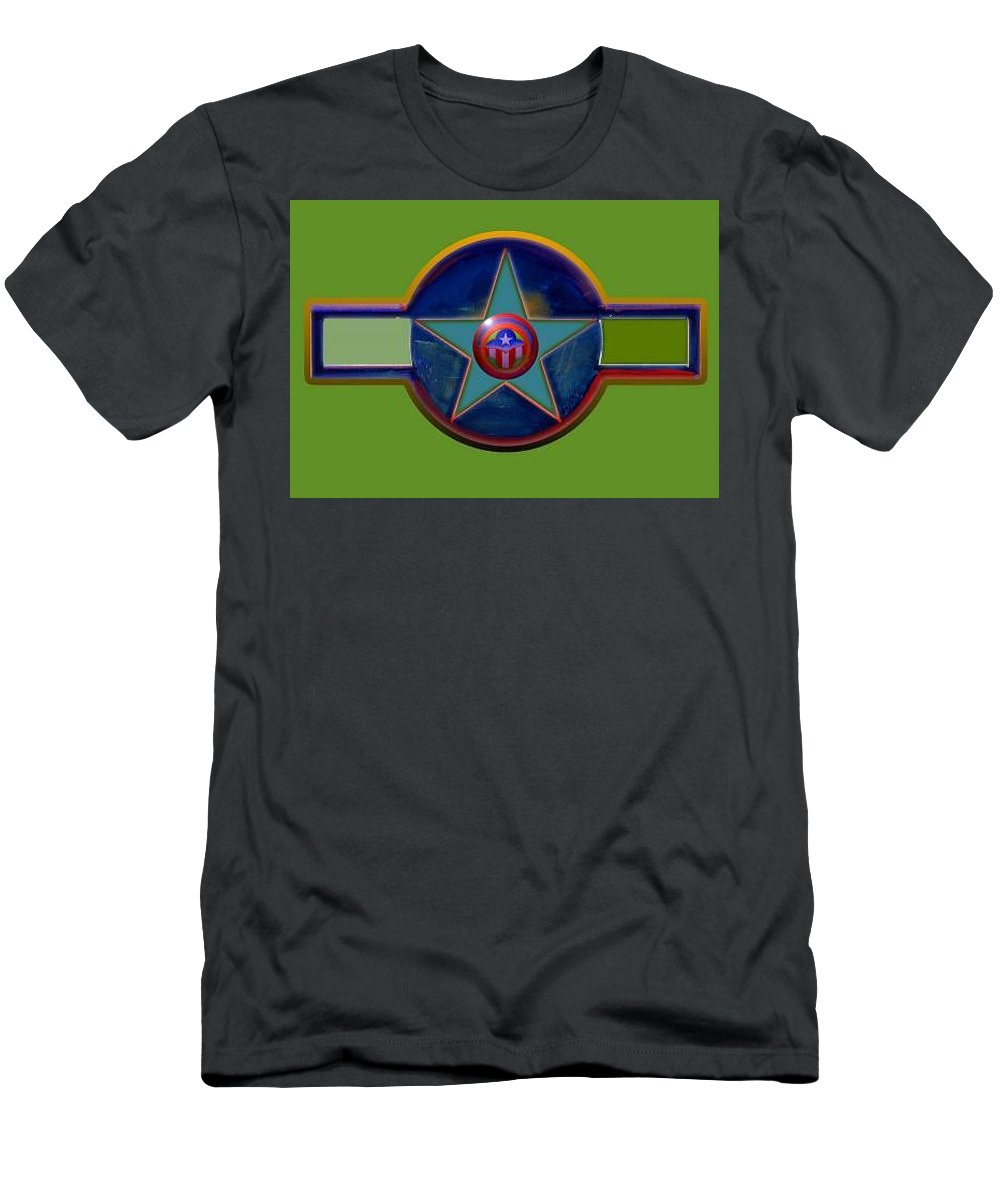 Usaaf Insignia T-Shirt featuring the digital art Pax Americana Decal by Charles Stuart