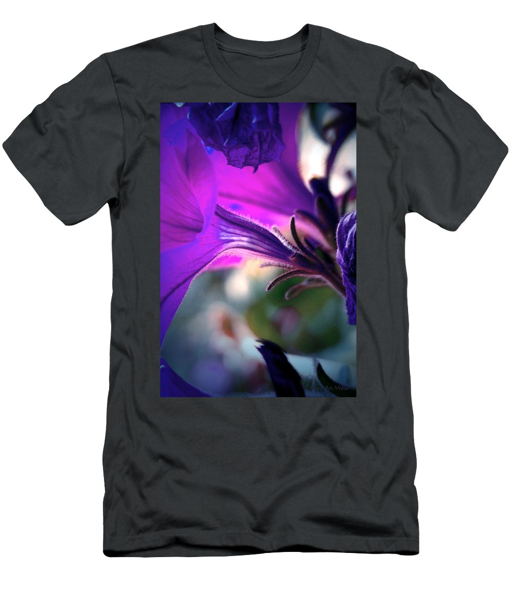 Flowers Men's T-Shirt (Athletic Fit) featuring the photograph Pe-tune-ya by Arthur Miller