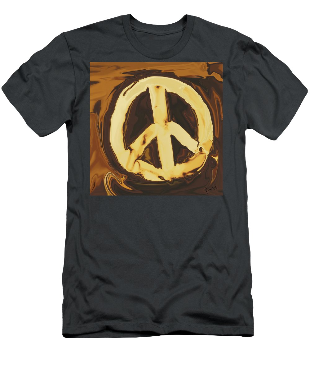 Freedom Men's T-Shirt (Athletic Fit) featuring the digital art Peace 2 by Rabi Khan