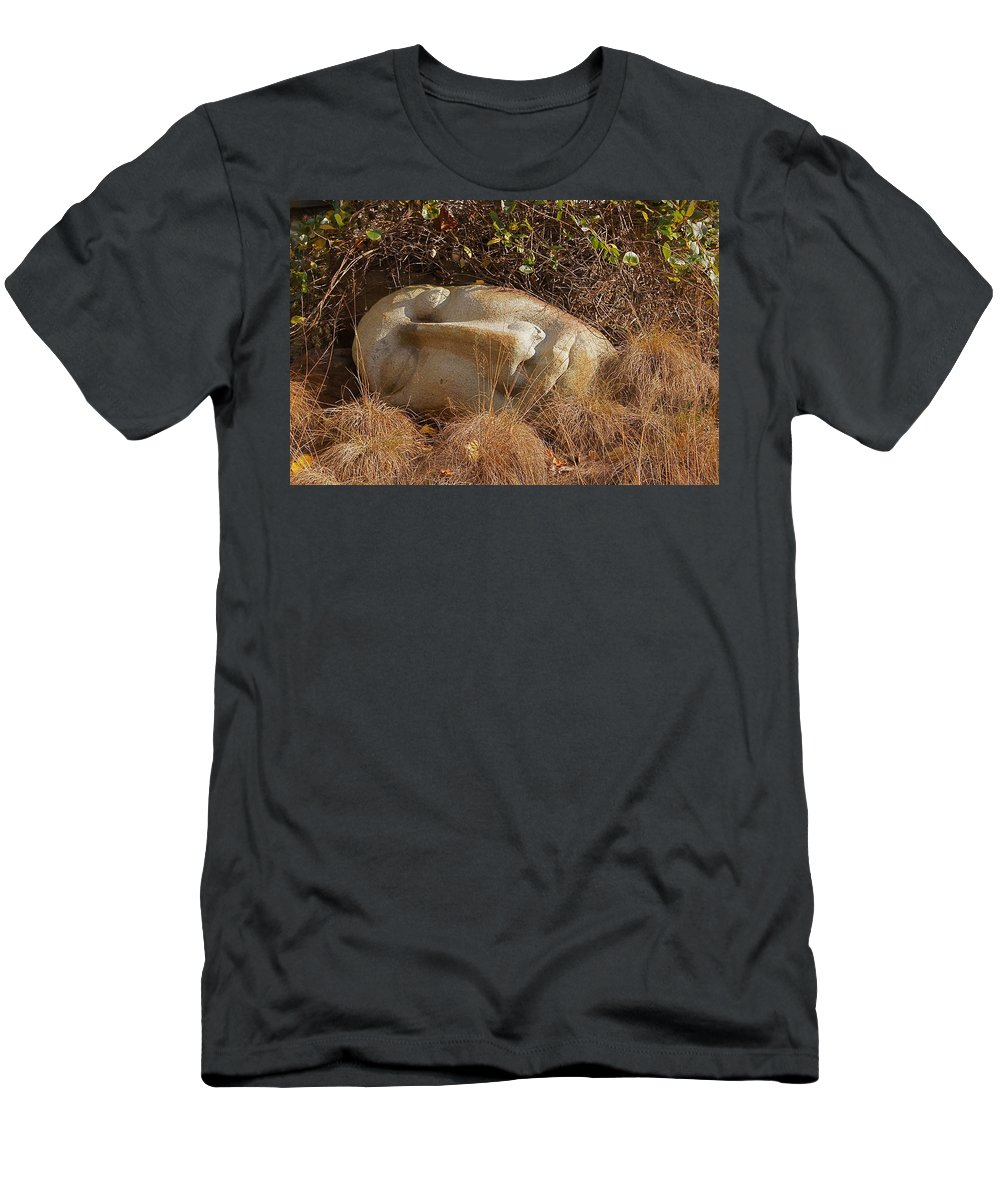 Peaceful Face Men's T-Shirt (Athletic Fit) featuring the photograph Peace by Byron Varvarigos