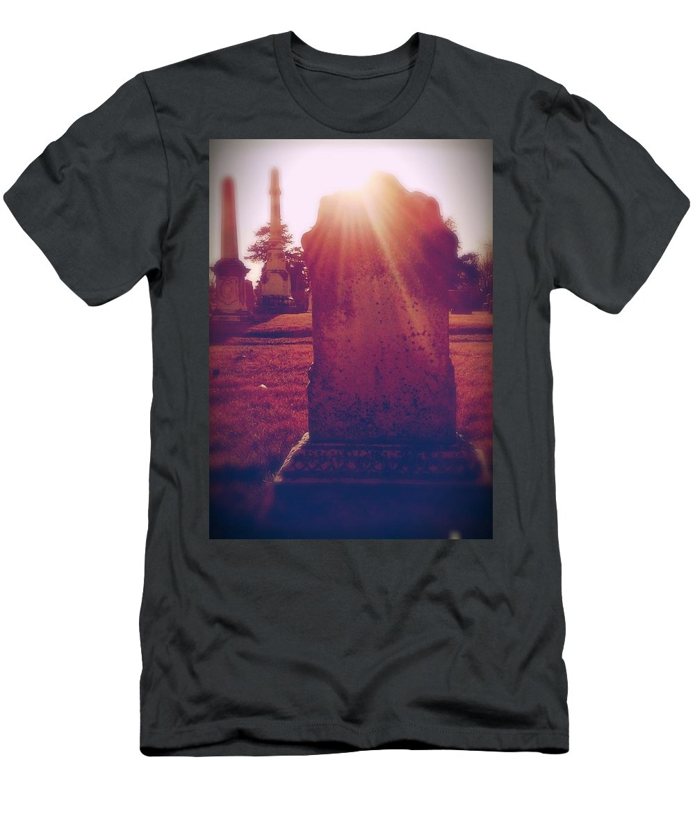 Cemetery Men's T-Shirt (Athletic Fit) featuring the photograph Peaceful by Cassie Peters