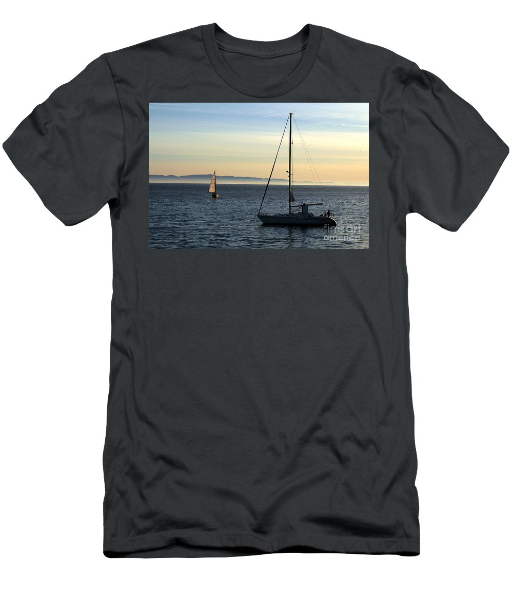 Clay Men's T-Shirt (Athletic Fit) featuring the photograph Peaceful Day In Santa Barbara by Clayton Bruster