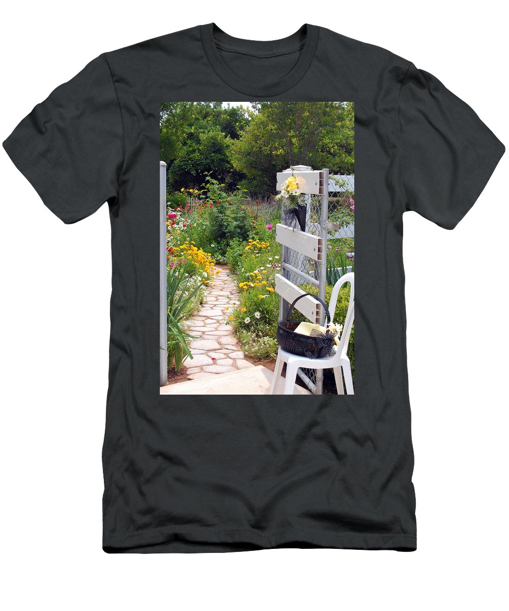 Garden Men's T-Shirt (Athletic Fit) featuring the photograph Peaceful Garden by Amy Fose