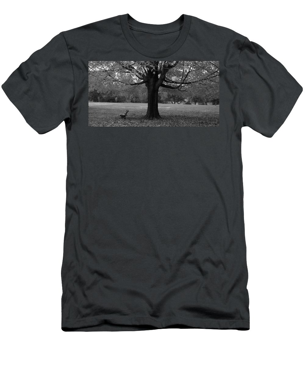 Maymont Men's T-Shirt (Athletic Fit) featuring the photograph Peaceful Park by Tina Meador