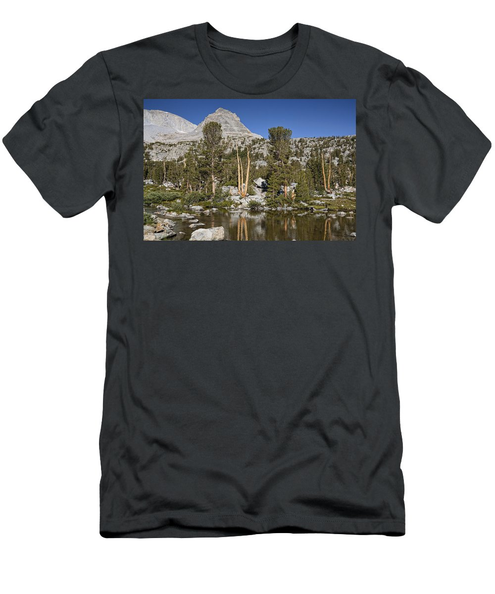 Mountain Men's T-Shirt (Athletic Fit) featuring the photograph Peaceful Retreat by Kelley King