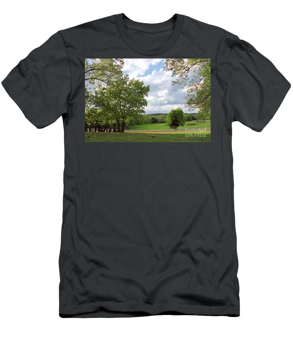 Landscape Men's T-Shirt (Athletic Fit) featuring the photograph Peaceful Setting by Todd Blanchard