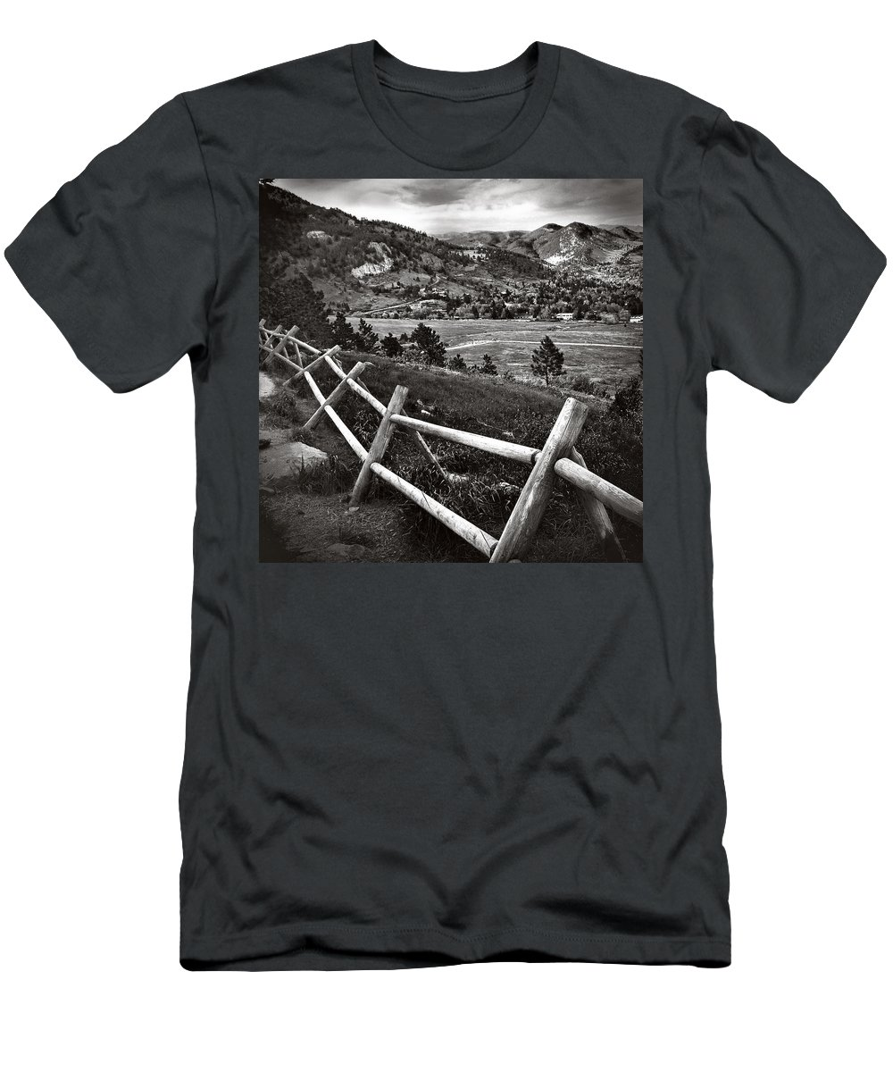 Valley Men's T-Shirt (Athletic Fit) featuring the photograph Peaceful Valley by Barbara MacFerrin