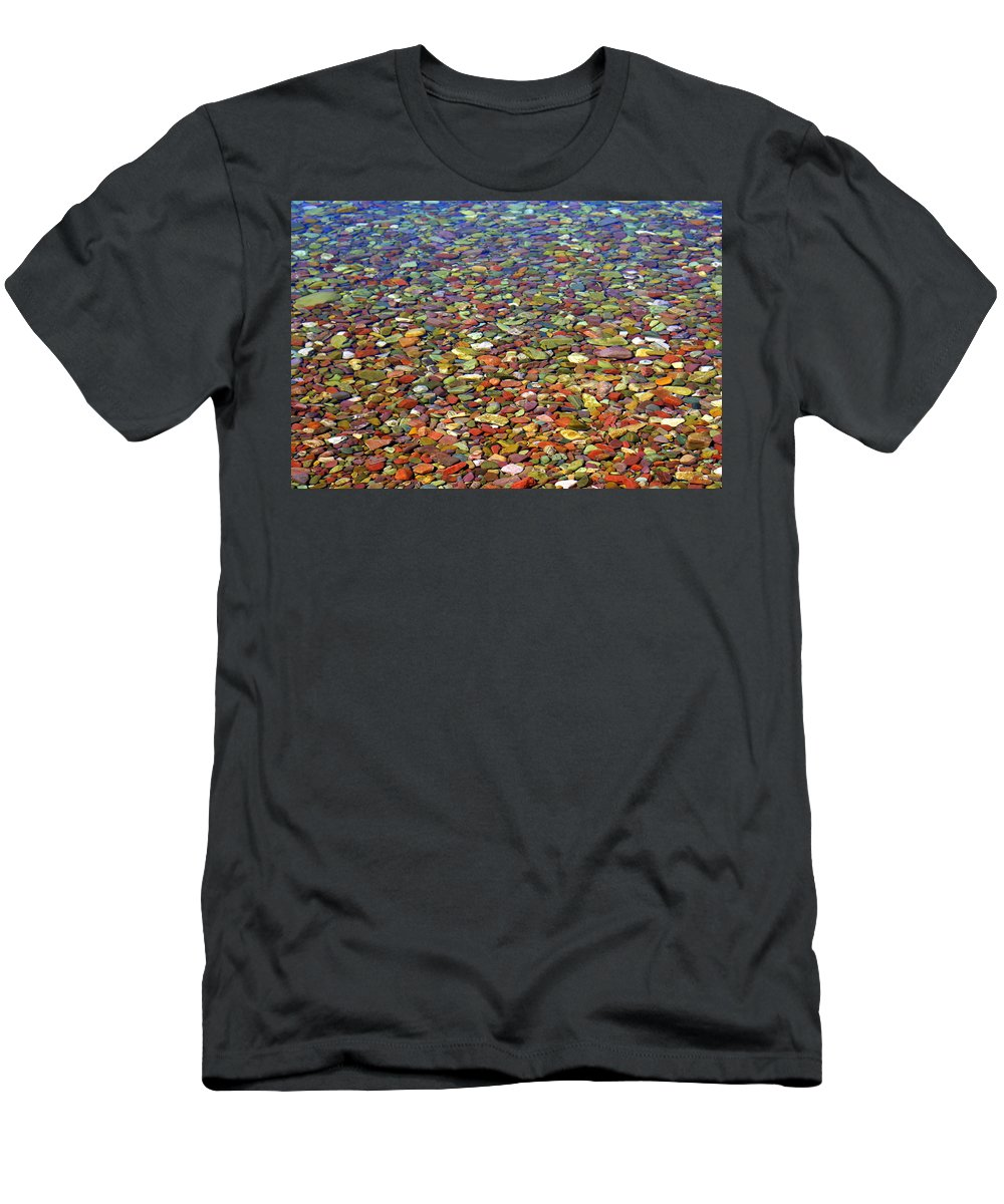 Water Men's T-Shirt (Athletic Fit) featuring the photograph Pebbles by Marty Koch