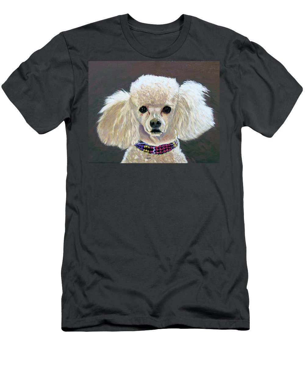 Dog Men's T-Shirt (Athletic Fit) featuring the painting Pebbles by Stan Hamilton