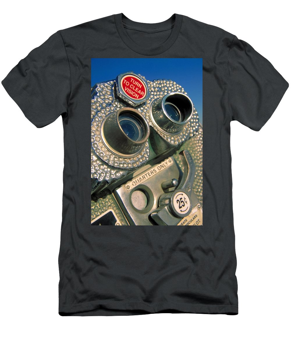View Men's T-Shirt (Athletic Fit) featuring the photograph Peep Show by Skip Hunt