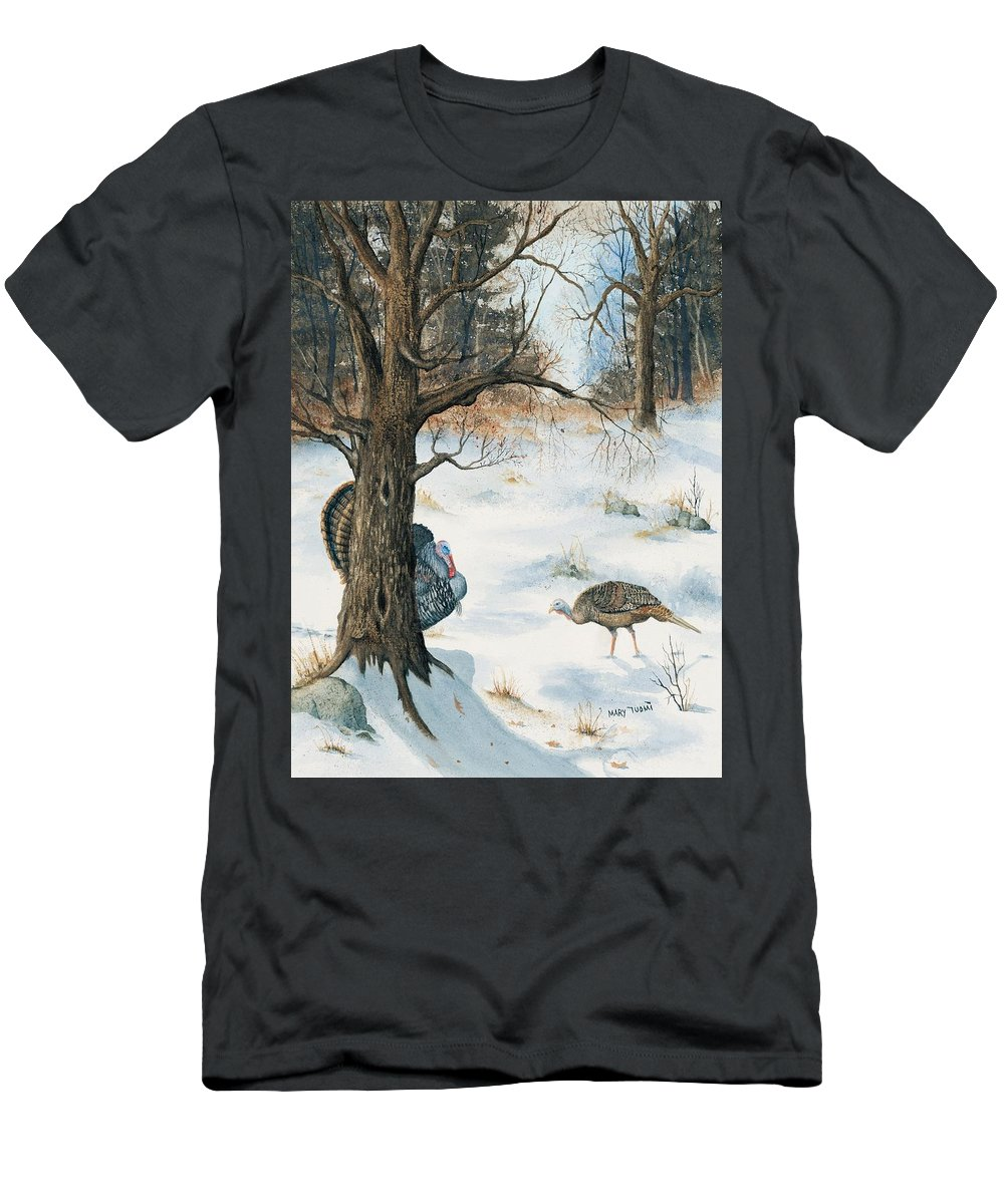 Turkey Men's T-Shirt (Athletic Fit) featuring the painting Peeping Tom by Mary Tuomi
