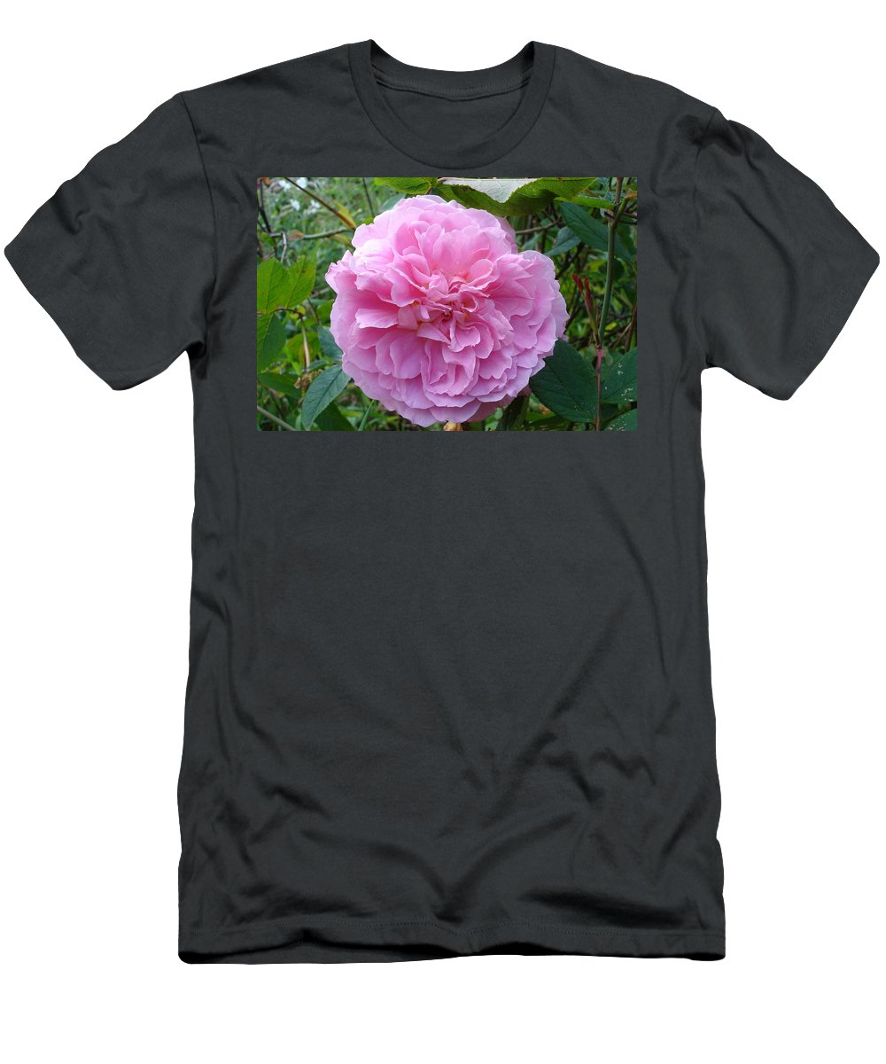 Rose Men's T-Shirt (Athletic Fit) featuring the photograph Perfect Pink Rose by Susan Baker