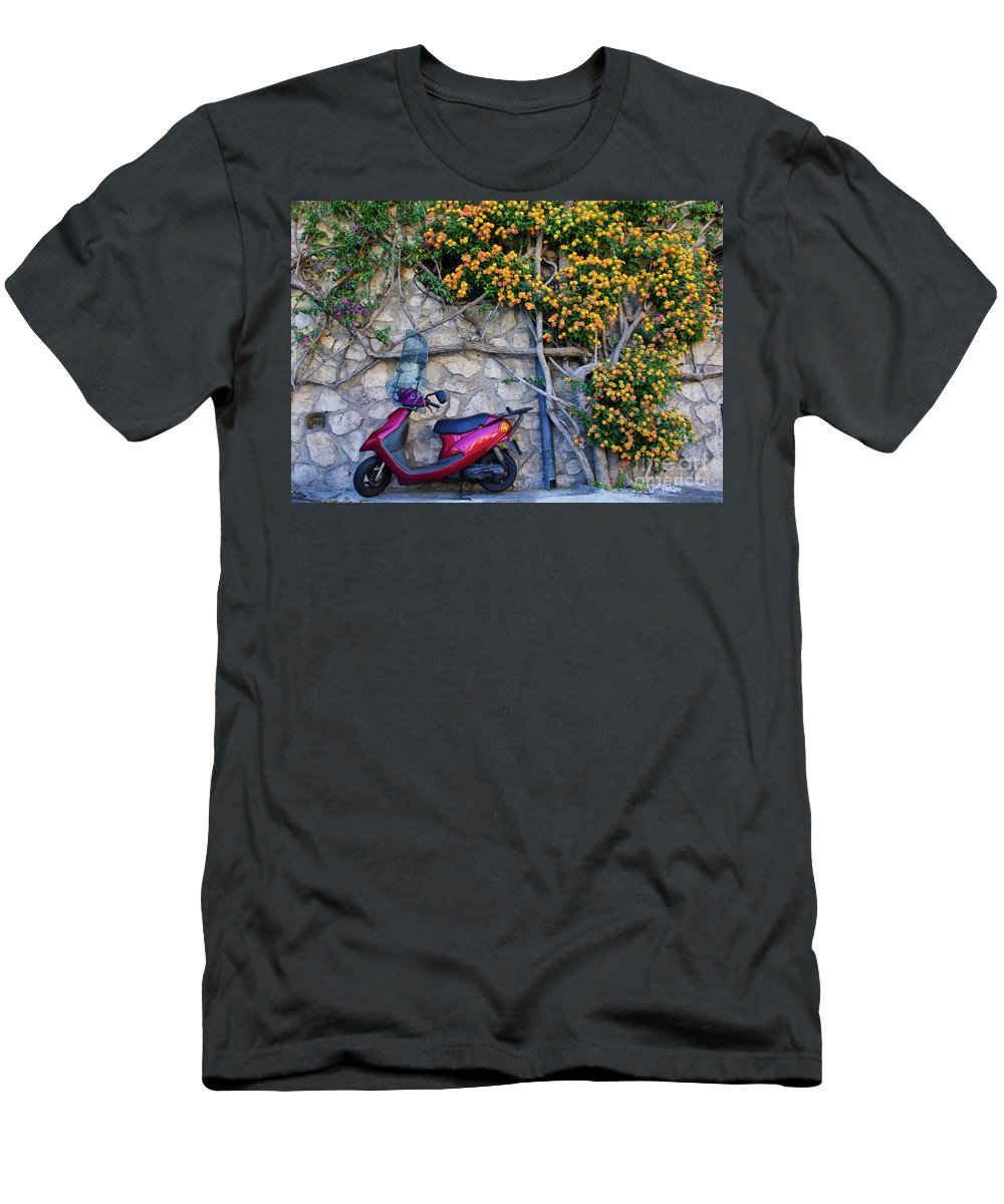 Positano Men's T-Shirt (Athletic Fit) featuring the photograph Perfectly Positano by Brian Kamprath