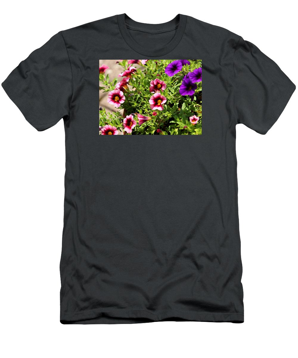 Petunia T-Shirt featuring the photograph Petunia Garden by Brian Manfra