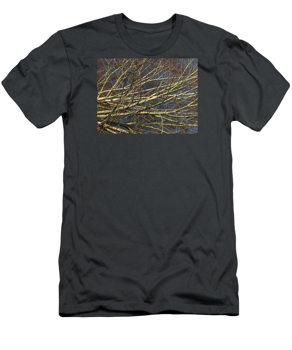 Trees Men's T-Shirt (Athletic Fit) featuring the photograph Phase by Chris Dunn
