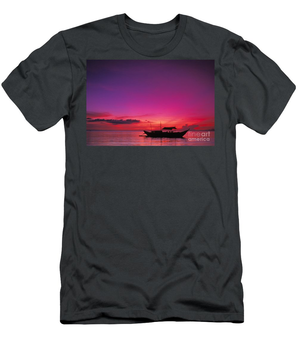 Beautiful Men's T-Shirt (Athletic Fit) featuring the photograph Philippines, Boracay Island by Gloria & Richard Maschmeyer - Printscapes