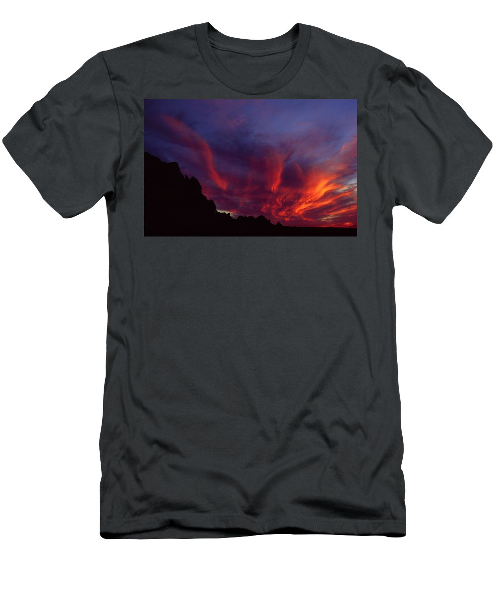 Arizona Men's T-Shirt (Athletic Fit) featuring the photograph Phoenix Risen by Randy Oberg