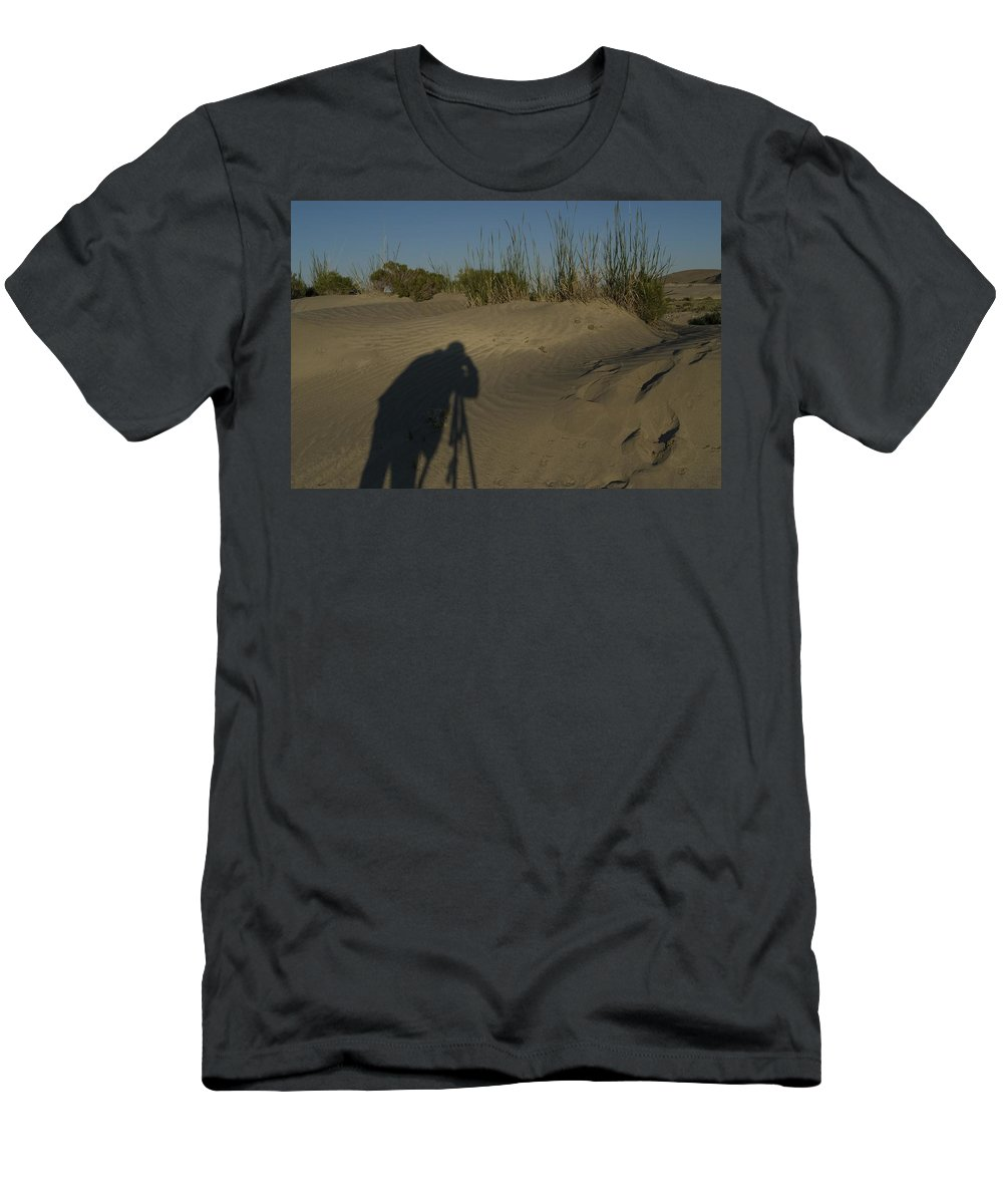 Photographer Men's T-Shirt (Athletic Fit) featuring the photograph Photographer by Sara Stevenson
