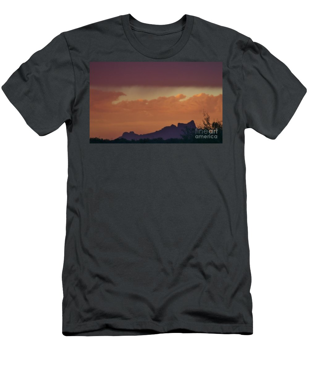 Picacho Men's T-Shirt (Athletic Fit) featuring the photograph Picacho's Dragon Landscape 2 by Lynn Michelle