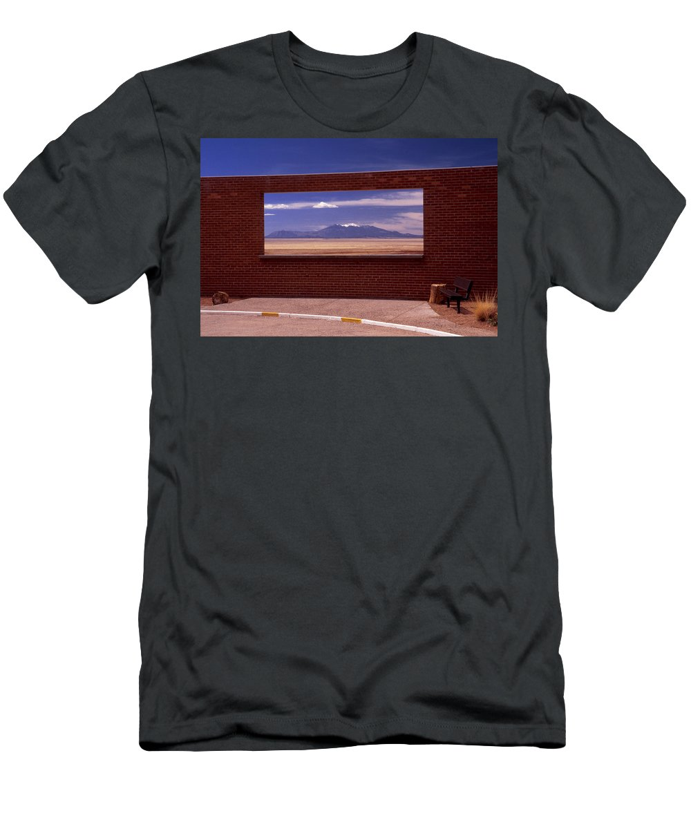 Window Men's T-Shirt (Athletic Fit) featuring the photograph Picture Window by Karen Ulvestad