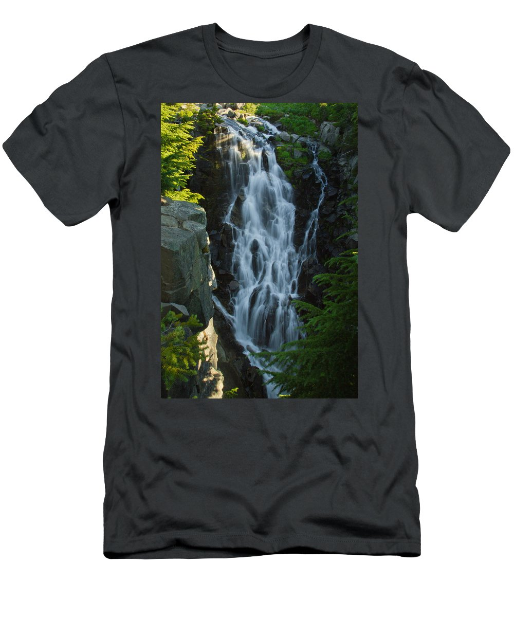 Waterfall Men's T-Shirt (Athletic Fit) featuring the photograph Picturesque by Christopher D Elliott