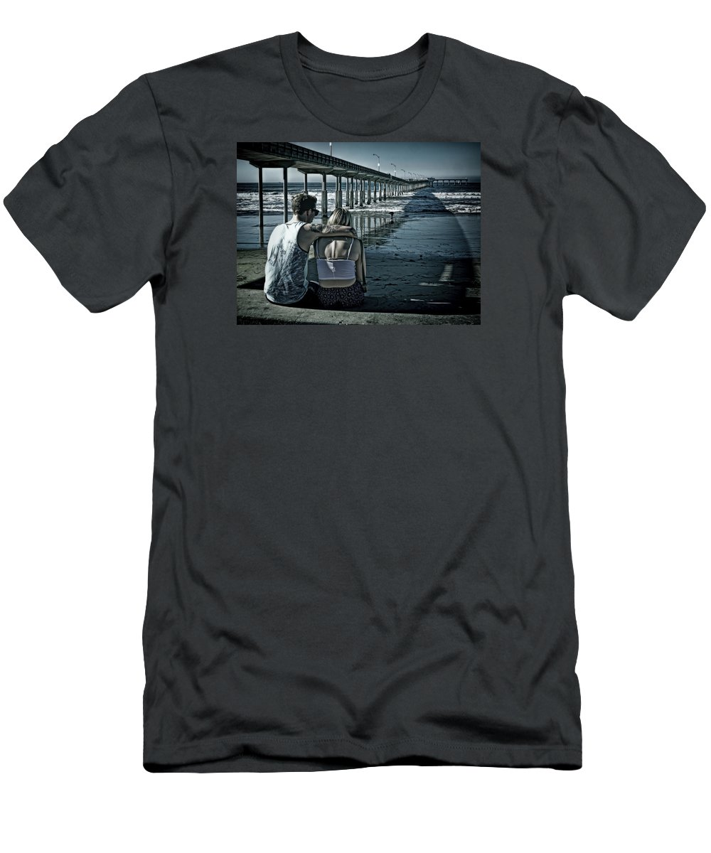 California Men's T-Shirt (Athletic Fit) featuring the photograph Pier Love by Claude LeTien