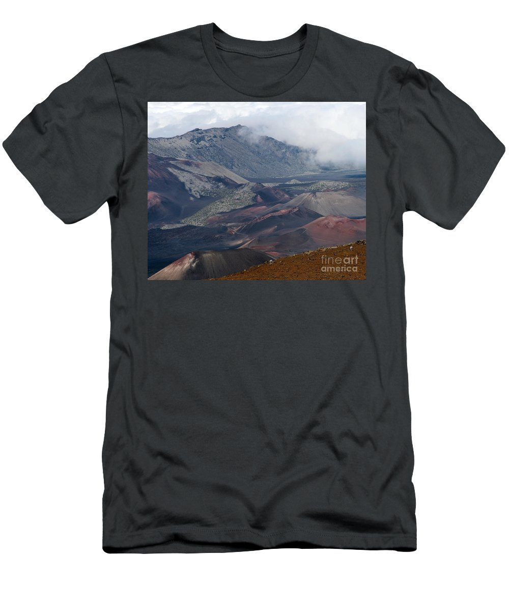 Aloha Men's T-Shirt (Athletic Fit) featuring the photograph Pihanakalani Haleakala House Of The Sun Summit Maui Hawaii by Sharon Mau