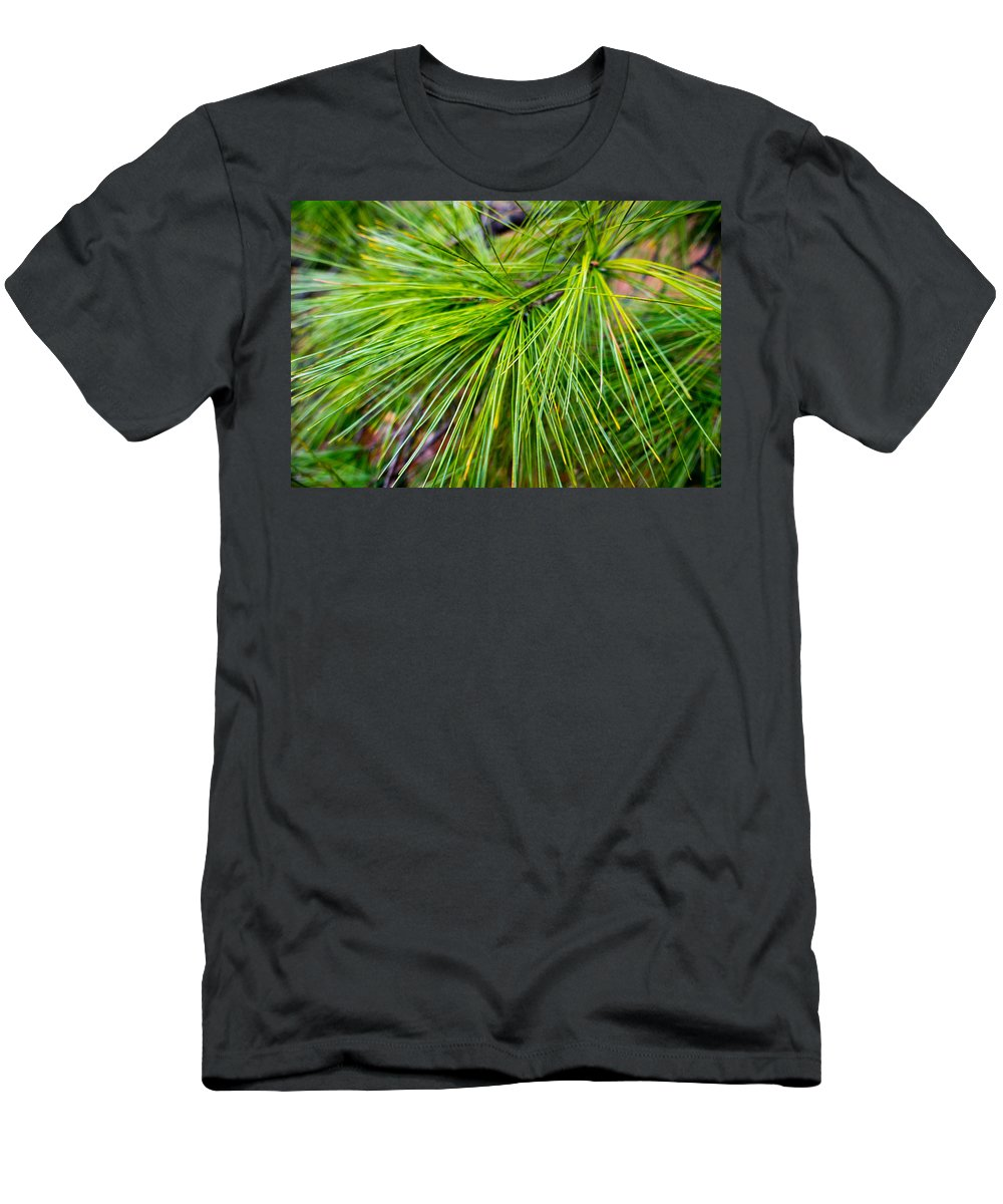 Fresh Men's T-Shirt (Athletic Fit) featuring the photograph Pine Tree Needles by SR Green