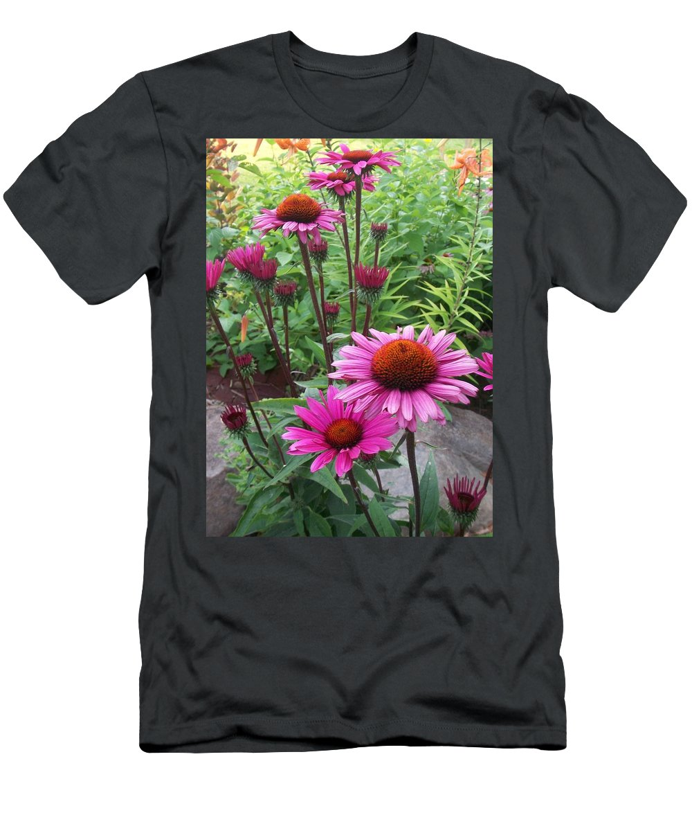 Flowers Men's T-Shirt (Athletic Fit) featuring the photograph Pink All Over by Anita Burgermeister