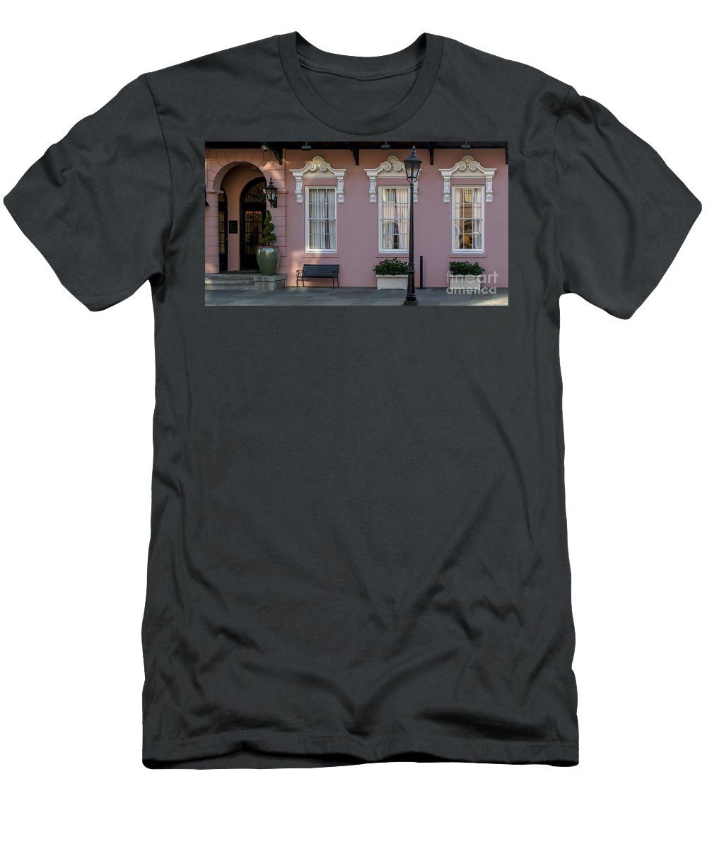 The Mills House Men's T-Shirt (Athletic Fit) featuring the photograph Pink Coral by Dale Powell