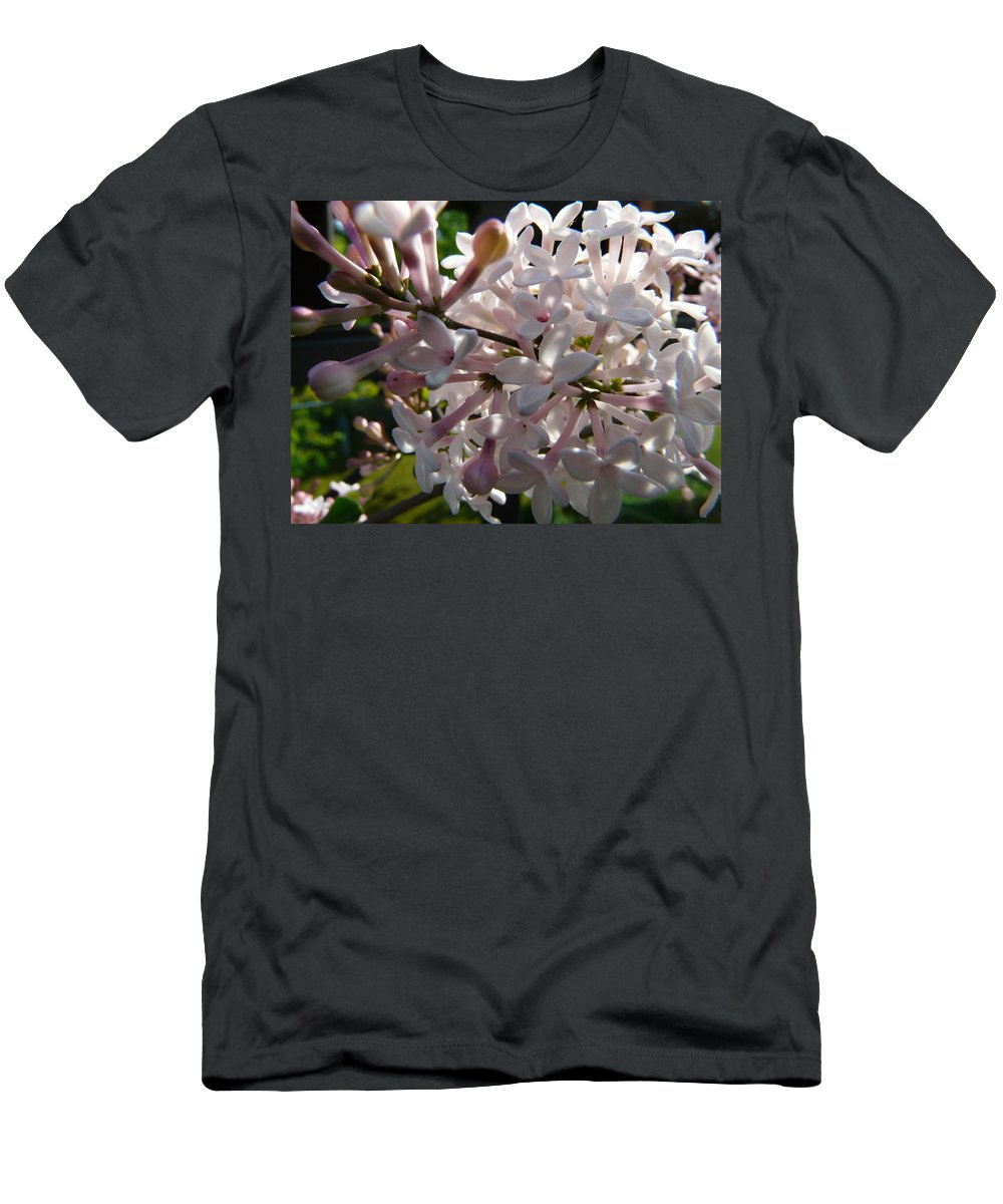 Flower Men's T-Shirt (Athletic Fit) featuring the photograph Pink Lilac Blossom by Valerie Ornstein
