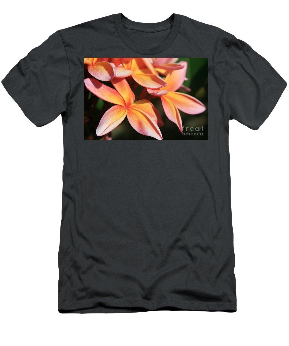Aloha Men's T-Shirt (Athletic Fit) featuring the photograph Pink Tropical Plumeria Makawao Maui Hawaii by Sharon Mau