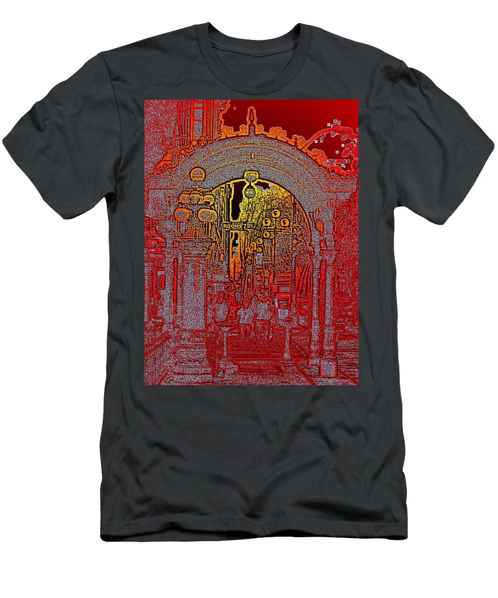 Seattle Men's T-Shirt (Athletic Fit) featuring the photograph Pioneer Square Pergola 2 by Tim Allen