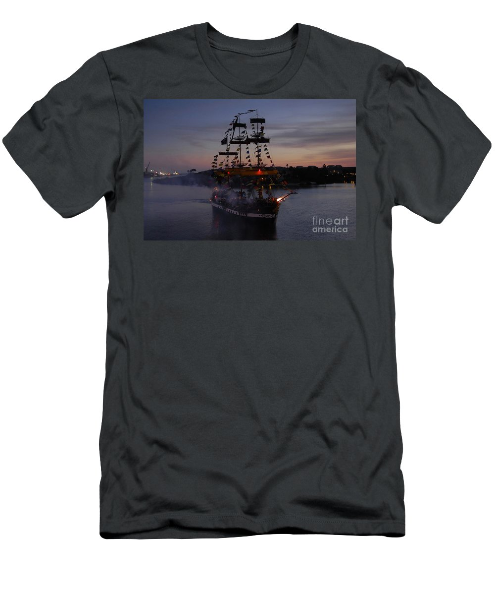 Pirates Men's T-Shirt (Athletic Fit) featuring the photograph Pirate Invasion by David Lee Thompson
