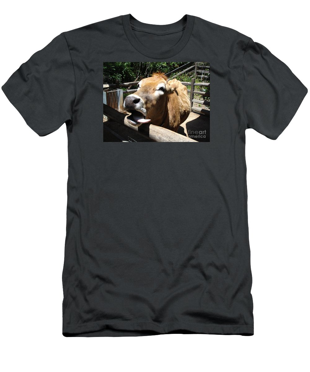 Cow Men's T-Shirt (Athletic Fit) featuring the photograph Plaaaah by Madilyn Fox