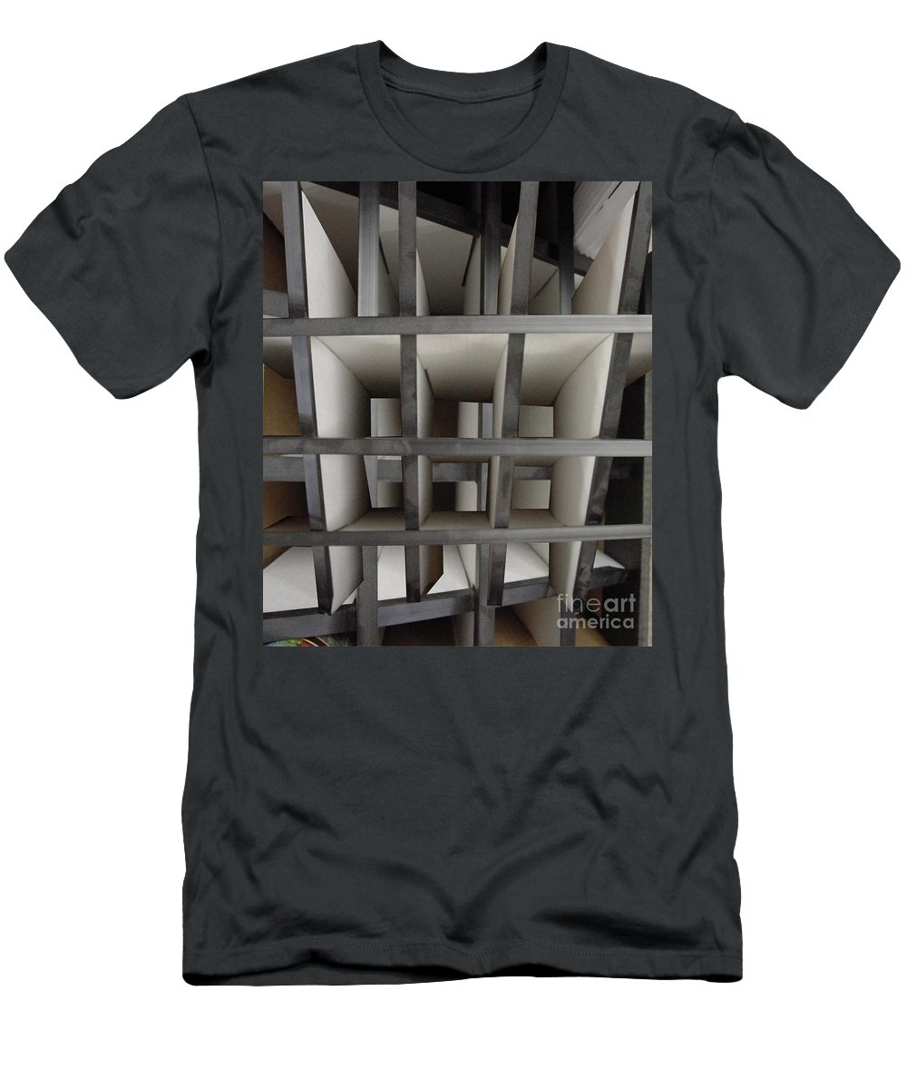 Perspective Men's T-Shirt (Athletic Fit) featuring the digital art Plain Perspective by Ron Bissett