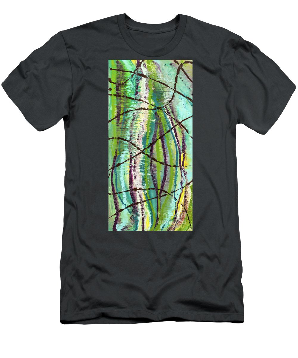 Abstract Men's T-Shirt (Athletic Fit) featuring the painting Planetary Pod by Dianne Bartlett