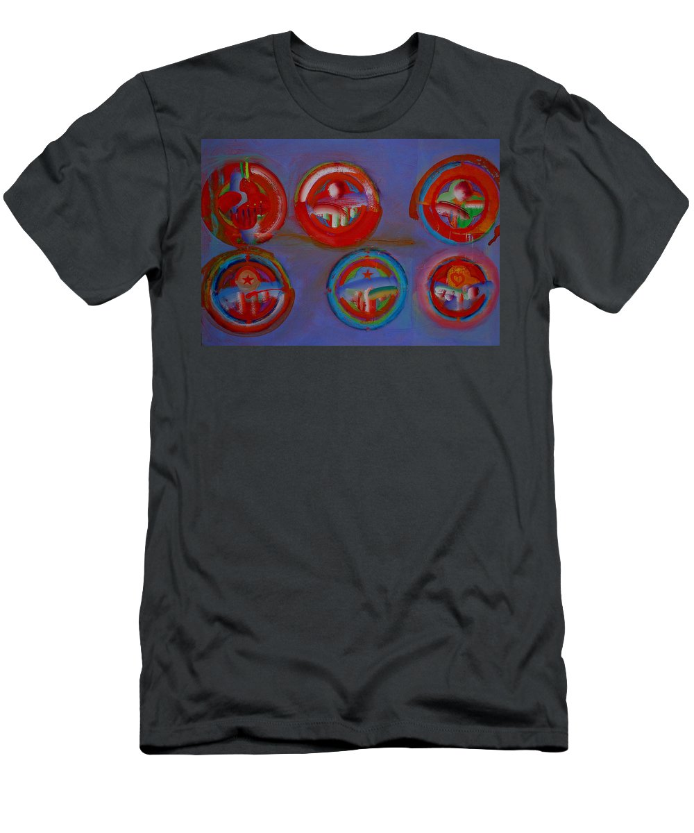 Logo Men's T-Shirt (Athletic Fit) featuring the painting Plate State by Charles Stuart