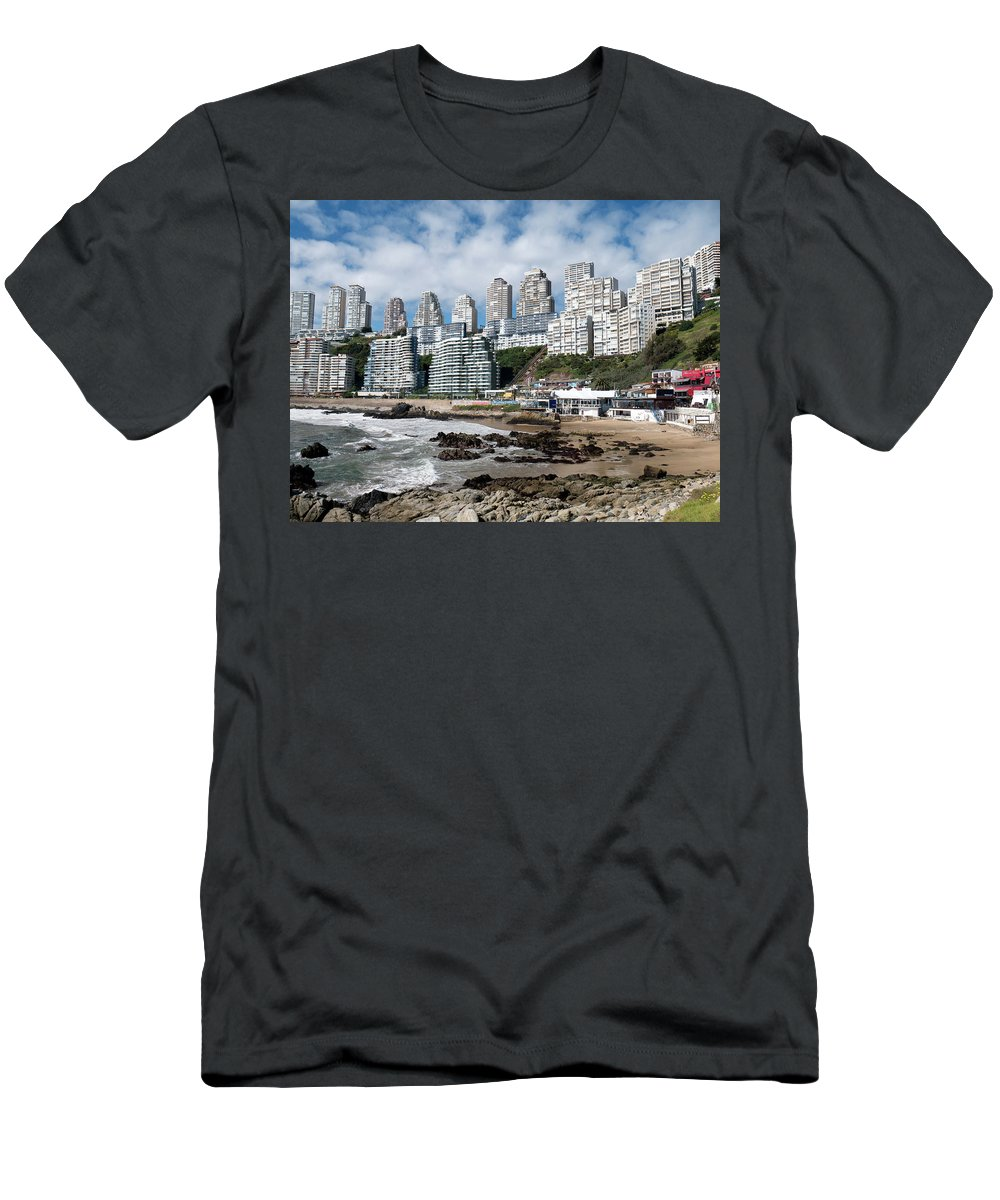 City Men's T-Shirt (Athletic Fit) featuring the photograph Playa Cochoa Chile by Ariel Pedraza
