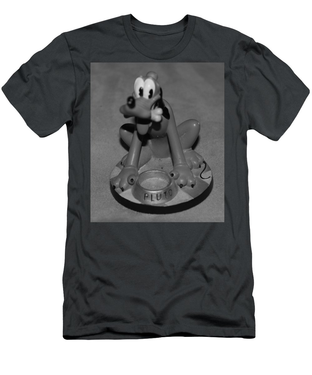 Black And White Men's T-Shirt (Athletic Fit) featuring the photograph Pluto by Rob Hans