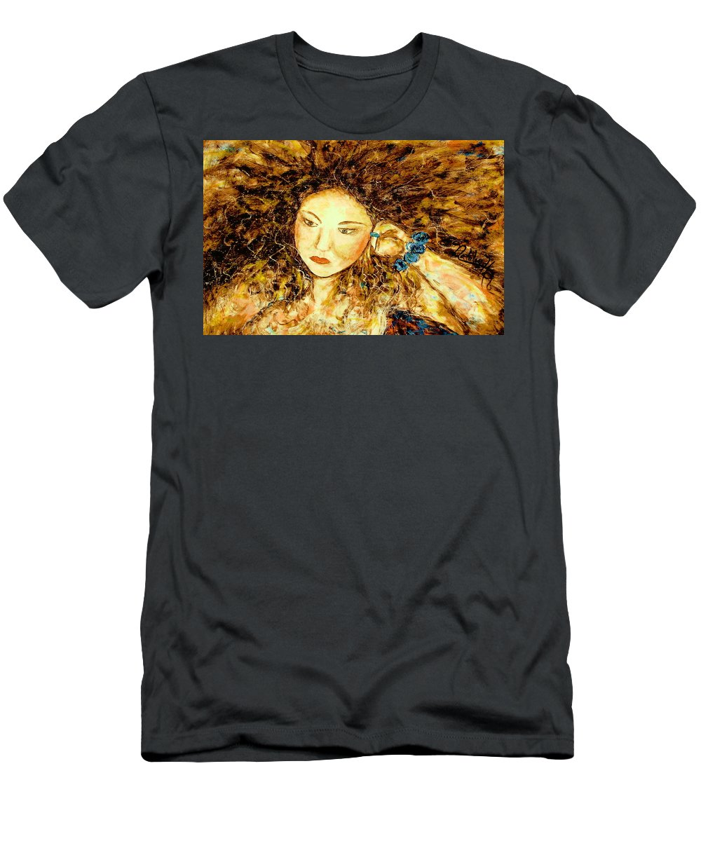 Portrait Men's T-Shirt (Athletic Fit) featuring the painting Poet by Natalie Holland