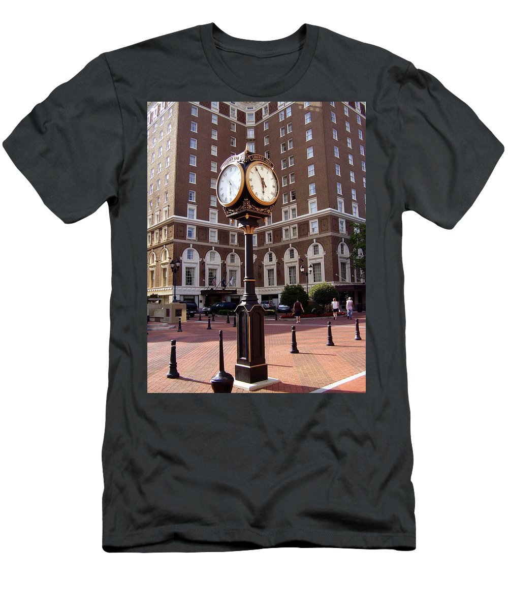 Poinsett Hotel Men's T-Shirt (Athletic Fit) featuring the photograph Poinsett Hotel Greeenville Sc by Flavia Westerwelle
