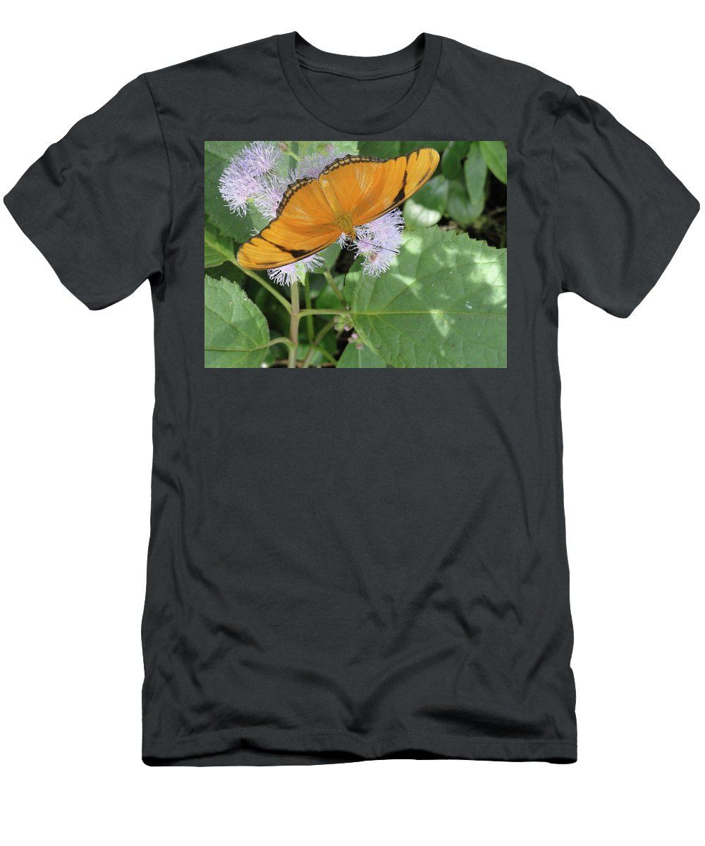 Butterfly Men's T-Shirt (Athletic Fit) featuring the photograph Poised by Trish Hale