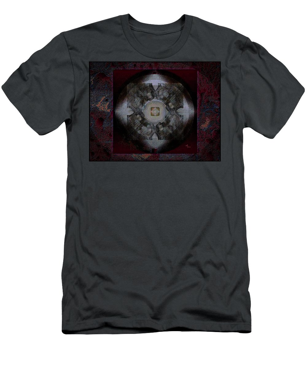 Geometric Abstract Men's T-Shirt (Athletic Fit) featuring the digital art Poof-e by Warren Furman